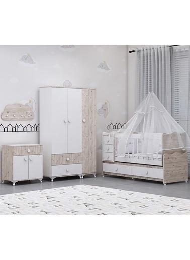Garaj Home Garaj Home Melina Damla Bebek Odası Takımı Yatak Ve Uyku Seti Kombinli/ Uyku Seti Gri Gri